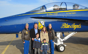 Blue Angles with UW's Bryce Haugsdahl & MOSD