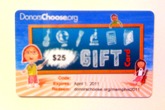 Donorschoose.org cards