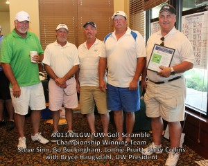 MLGW Golf Tournament winners with United Way President Bryce Haugsdahl